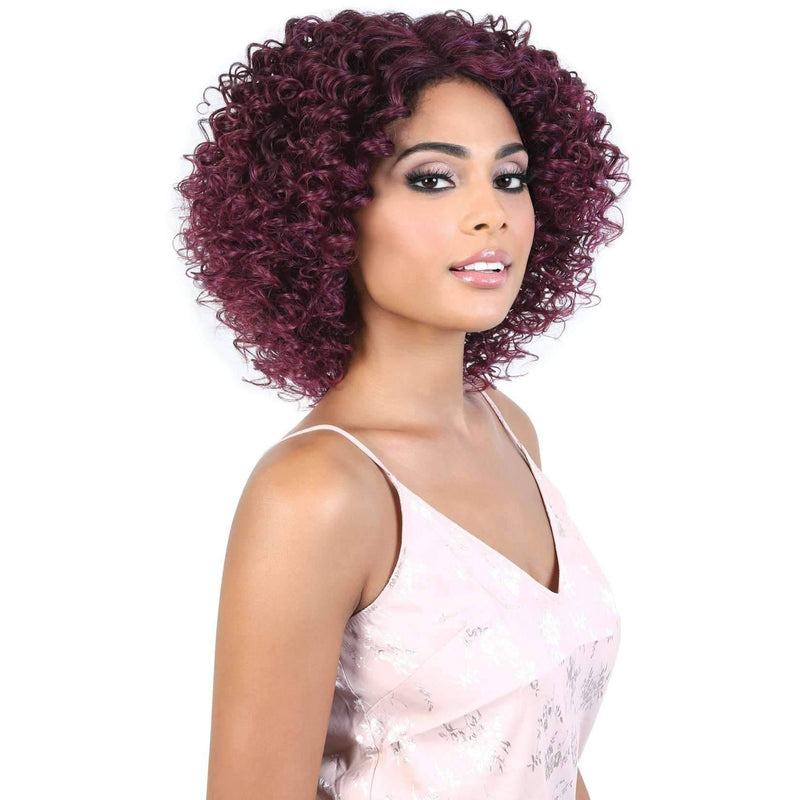 LDP-GINGER - Medium Length Curly High Quality Synthetic Wigs | Motown Tress - African American Wigs
