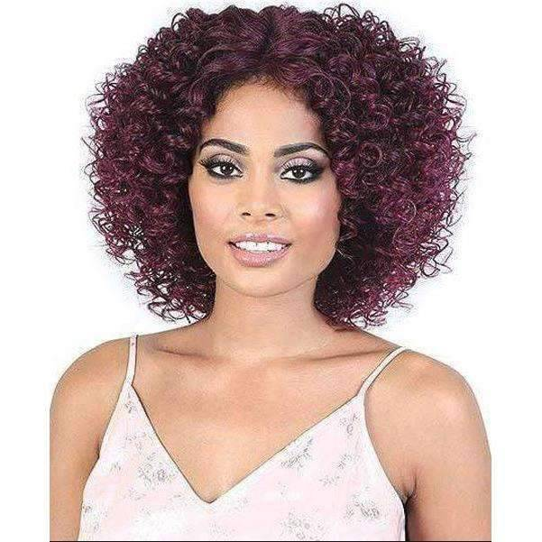 LDP-Ginger - Short Length Curly Synthetic Wig | Motown Tress - African American Wigs