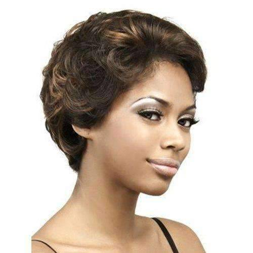 LFH-Iris-Motown Tress Synthetic Lace Front Hair Wig Short in Color #1 - African American Wigs