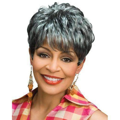 LONDON - Foxy Silver Synthetic Wig in Color #3T51 - African American Wigs