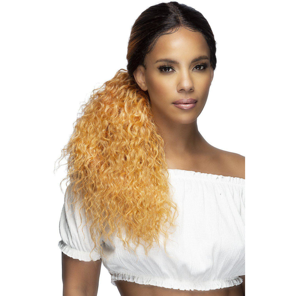 "LOWPONY-2 23"" TIGHT CURLY LOW PONYTAIL LACEFRONT WIG - Vivica Fox"