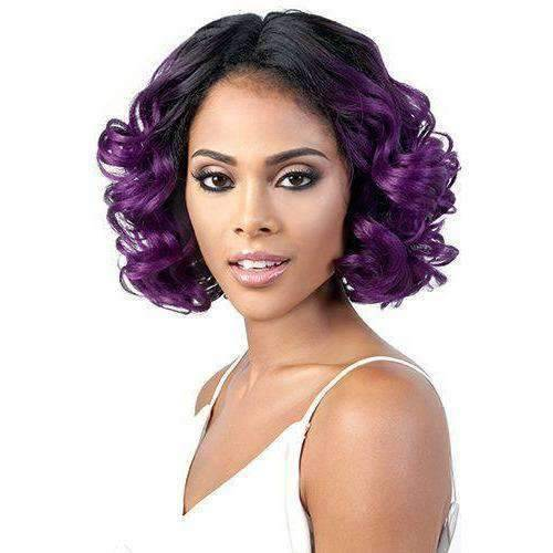 LSDP-Mora - Medium Length Curly Synthetic Wig | Motown Tress - African American Wigs