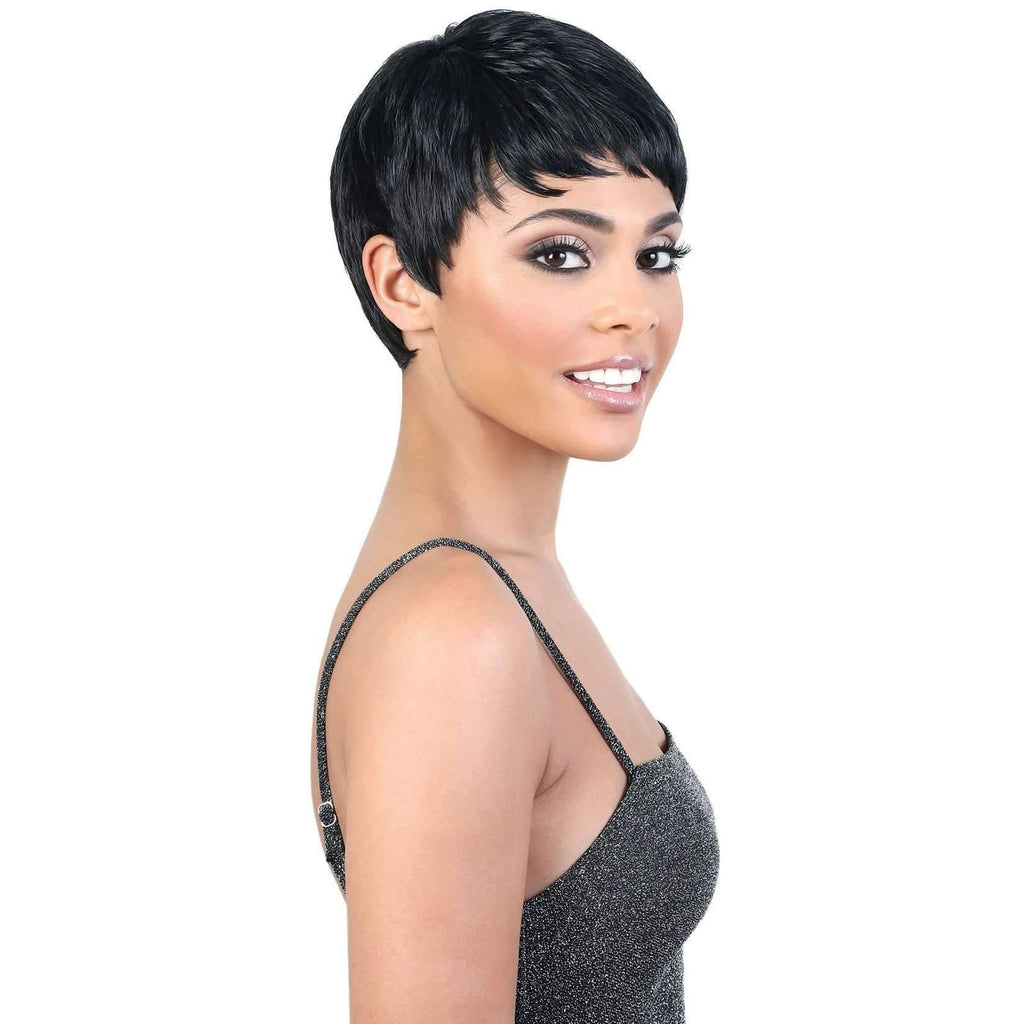 LUCKY - Short Length Wavy High Quality Synthetic Wigs| Motown Tress - African American Wigs