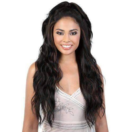 L.UNICORN - Long Length Curly High Quality Synthetic Wig | Motown Tress - African American Wigs