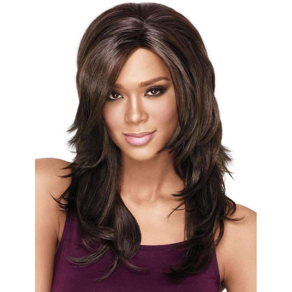 LUSCIOUS LAYERS | Sherri Shepherd Lace Front Synthetic Wig Copper/Med. Brwn only - African American Wigs