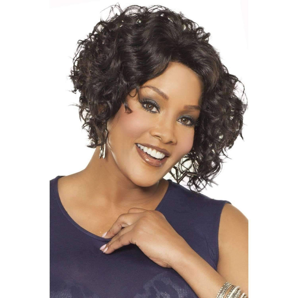 MEGAN-V | Heat Resistant Synthetic Wig (Lace Front Traditional Cap) - African American Wigs
