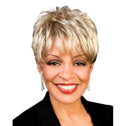 MOKA - Foxy Silver Synthetic Wig - African American Wigs