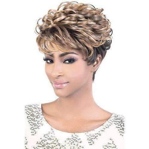 Nana - Short Length Curly Synthetic Wig | Motown Tress - African American Wigs