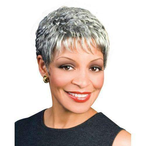NAOMI - Foxy Silver Synthetic Wig - African American Wigs