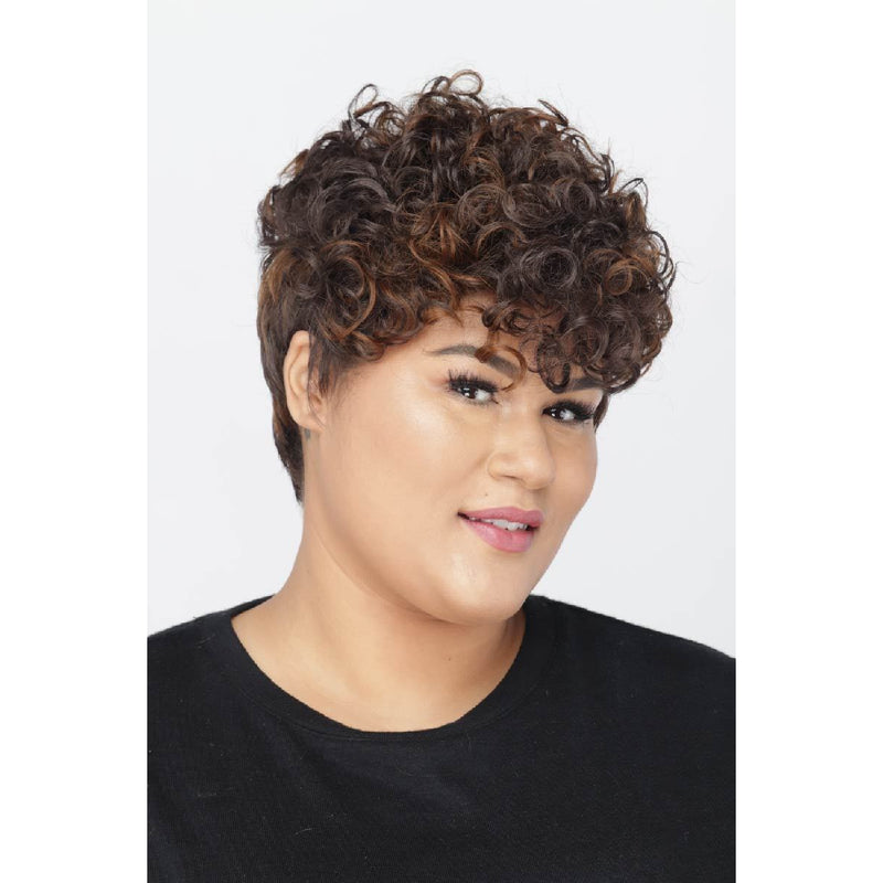 Petite Cherie | Small Cap Size Wig | Synthetic Curly Pixie Cut | African American Wigs