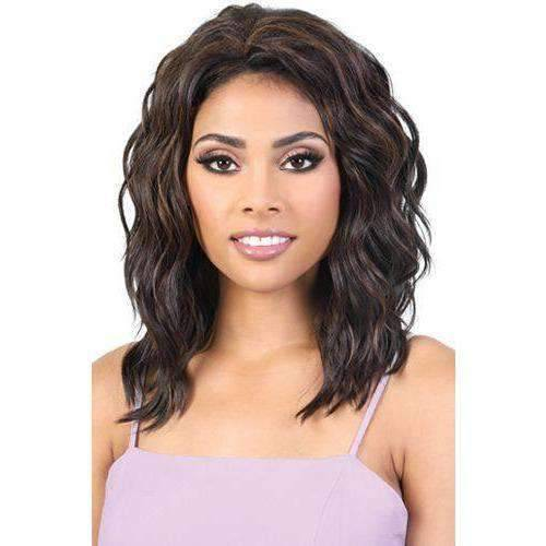 QE.Ginny - Medium Length Wavy Synthetic Half Wig | Motown Tress - African American Wigs
