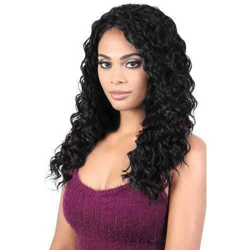 QE.SABLE - Long Length Curly High Quality Synthetic Wig | Motown Tress - African American Wigs