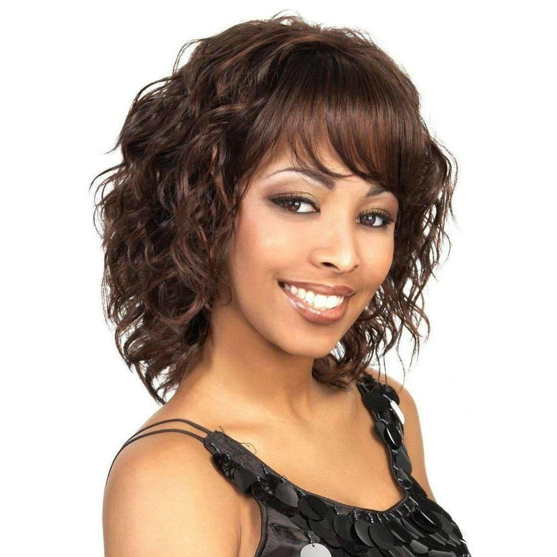 Shiny-Motown Tress Synthetic Hair Wig Short - African American Wigs