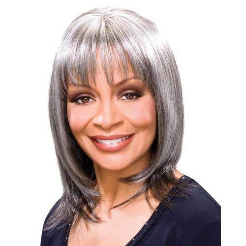 SIENNA - Foxy Silver Synthetic Wig in Color #F4/30 - African American Wigs