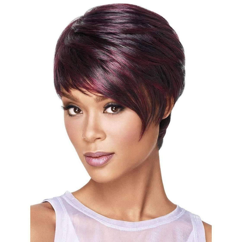 SLEEK ANGLE | Sherri Shepherd Synthetic Wig Natural Black 1B - African American Wigs