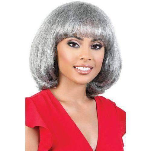 Motown Tress Synthetic Silver Grey Hair Collection - S.ZIMI - Medium Length Wigs