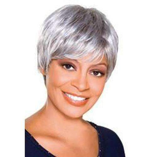 TRUDY - Foxy Silver Synthetic Wig in Color #F2/27 - African American Wigs