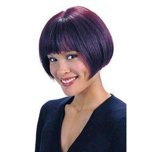 Zelda-Motown Tress  Human Hair Blend Wig Short in Color #1BF30 - African American Wigs