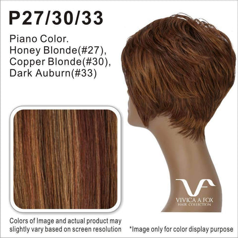 Image of WP-LIZZY-V | Heat Resistant Synthetic Wig (Weave/Traditional Cap) Color 1B - African American Wigs