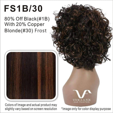 Image of WP-STACEY - Vivica Fox Synthetic Wig in Color #FS1B/30 - African American Wigs