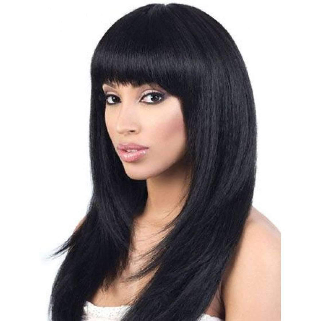Y. NYX | Heat Friendly Synthetic Hair Yaky Wig (Lace Front Traditional Cap) - African American Wigs