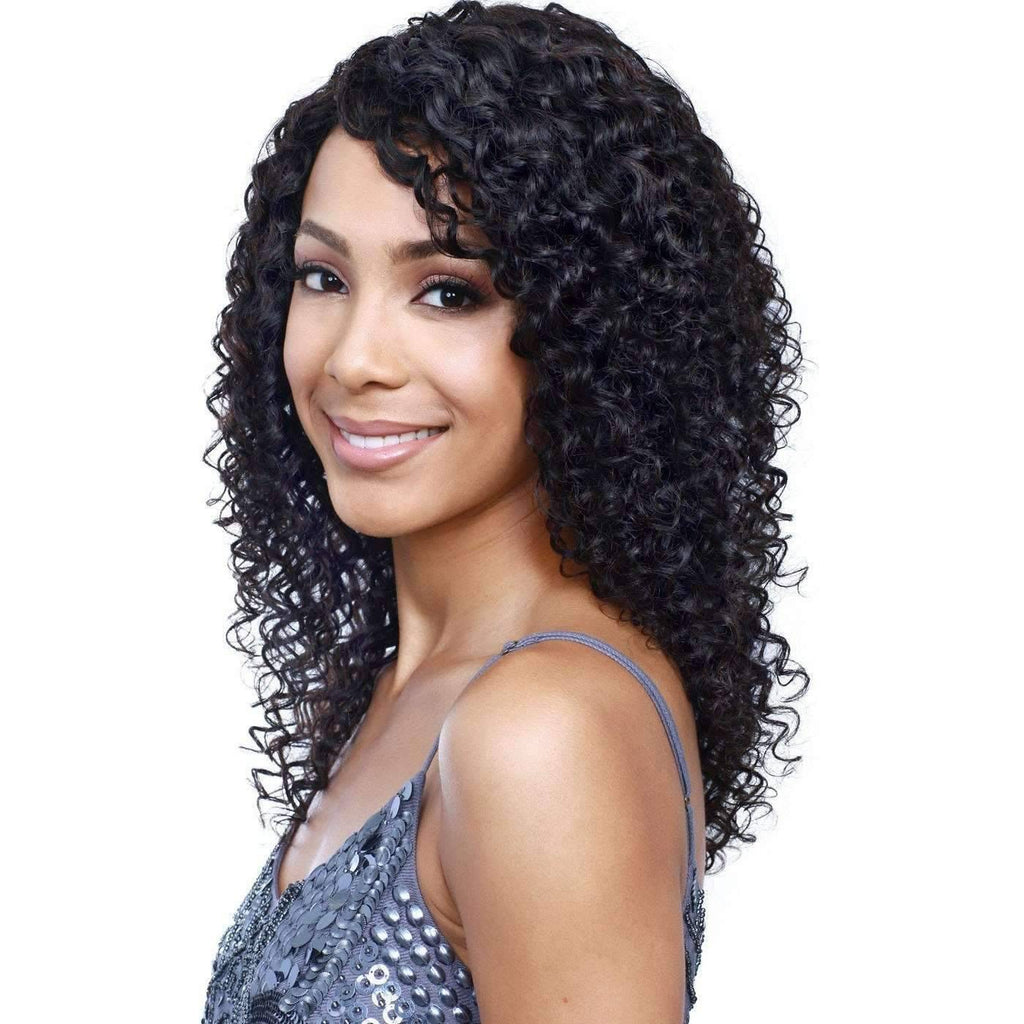Yanet | Long Curly 100% Human Hair Wig  |  Bobbi Boss Wig - African American Wigs