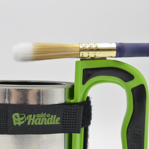 Add-a-Handle easily holds paintbrush on magnet