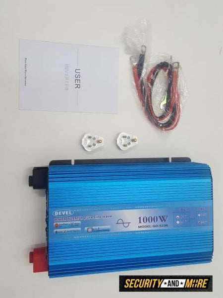 1000w Devel Pure Sine Inverter | 12v Dc To 220v Ac| Inverter -Pure Sine Wave (2000w Peak) - Security and More