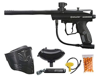 SPYDER AGGRESSOR READY 2 PLAY PACK | INCLUDES GOGGLE, 200 ROUND HOPPER, 9OZ CO2, 50 PAINTBALLS