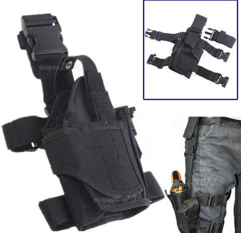 TACTICAL THIGH HOLSTER | ADJUSTABLE FOR WEAPON SIZE (Black & Camo Available)
