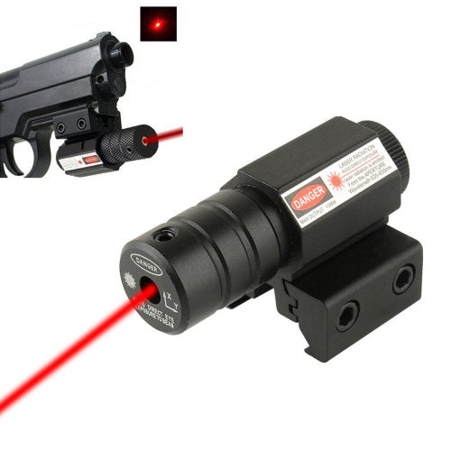 Red Dot Laser Sight | Tactical Pistol Laser Sight | Adjustable 11mm-20mm Picatinny Weaver Mount