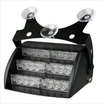 18 Led White Led Dashboard Strobe | Plugs Into Car Lighter - Security and More