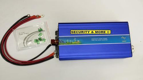 2000w Inverter | 12v Dc To 220v | Ac Inverter -Pure Sine Wave (4000w Peak) - Security and More