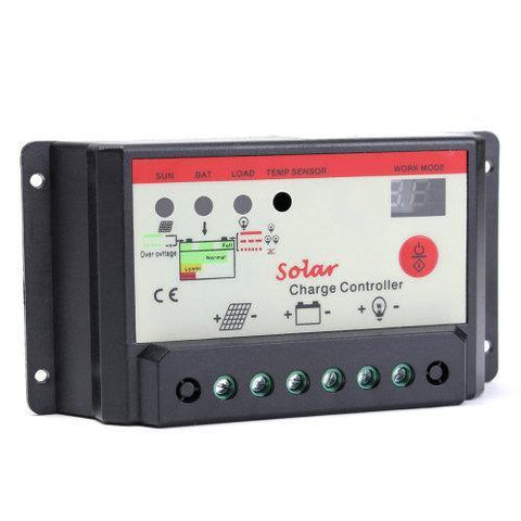 20a Pwm Solar Charge Controller 12/24v - Security and More