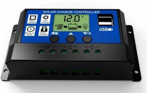 20A Solar Charge Controller | LCD Display With Dual USB Ports | 12V/24V | PWM - Security and More