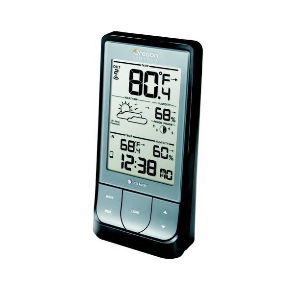 Oregon - Bar218HG Home Bluetooth Enabled Weather Station - Dark Grey