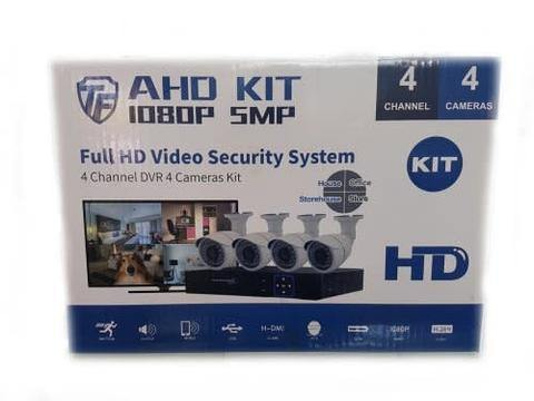 4 Channel 4 Camera AHD CCTV Kit 5mp | Motion Detection | Remote Viewing - Security and More