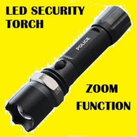 500 LUMEN RE-CHARGEABLE SECURITY TORCH POLICE- NOW REDUCED! - Security and More