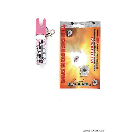 Pink- Liquid Bullet Joggers Pepper Spray - 20ml Direct Stream