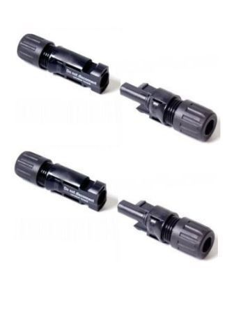 Male & Female Solar MC4 Connectors - Pack of 2