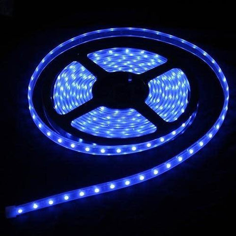 5m Roll Blue 12v Led Strip Lights | With Power Supply Plug | 3528 Led - Security and More