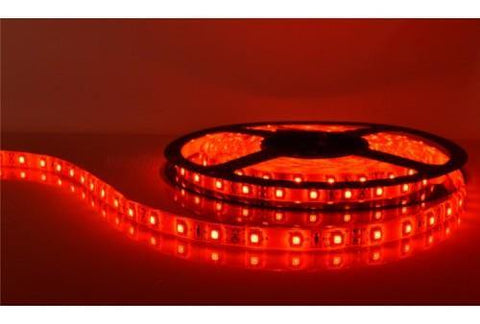 5m Roll Red 12v Led Strip Lights | With Power Supply Plug | 3528 Led - Security and More