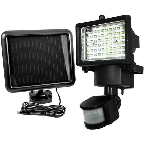 60 LED PIR Motion Sensor Solar Power Security Floodlight - Security and More