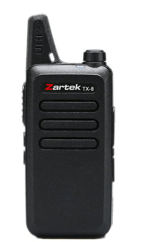 Zartek TX-8 SINGLE two-way radio, UHF handheld transceiver
