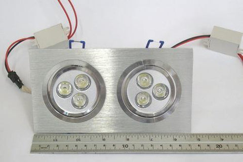 6w Led Dual Swivel Downlight Fitting- 90%Energy Saving - Security and More