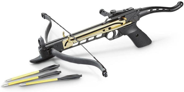 80 LBS PISTOL CROSSBOW | MK-80A3 | 3 ALUMINIUM BOLTS INCLUDED - Security and More