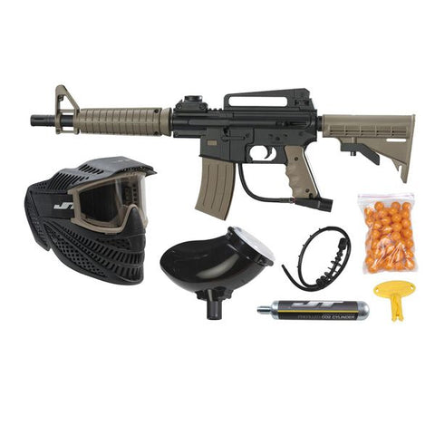 Jt Tactical Rtp Kit Tan Includes Mask 9Oz Co2 Hopper 50 Paintballs