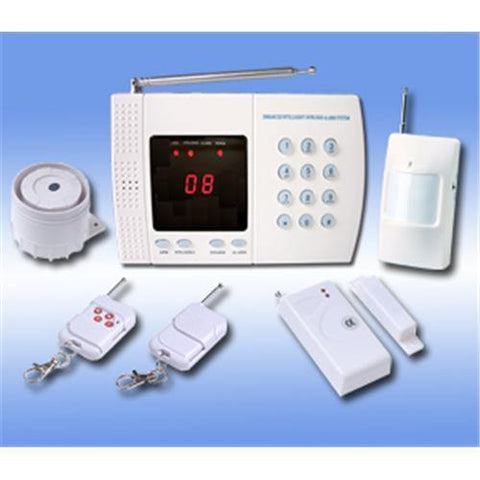 Auto-Dial Home & Office Security Alarm System with Wireless Control | 315MHZ - Security and More