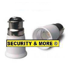 B22 to E27 Adaptor / Lamp Socket Converter - Security and More