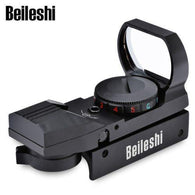 Beileshi 20mm (Picatinny) Rail Green/Red Dot Sight Hunting Tactical Holographic 1x22x33 Reflex Scope - Security and More